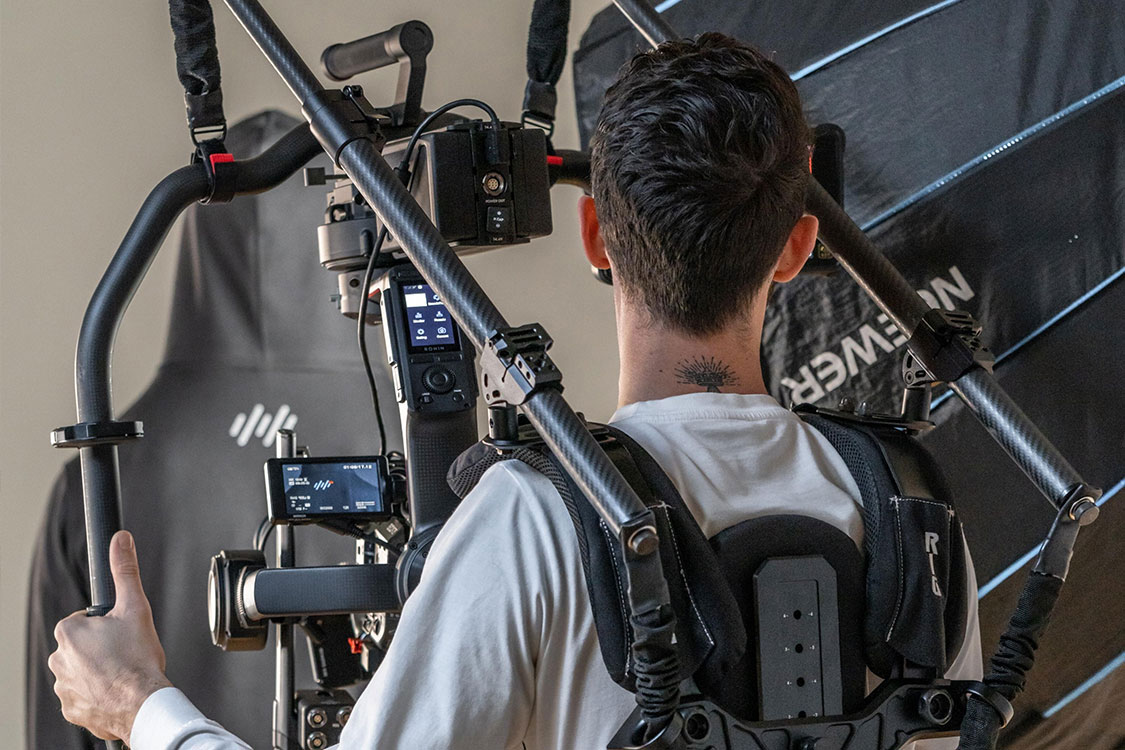 Filming on a gimbal in Victoria for a businesses marketing video